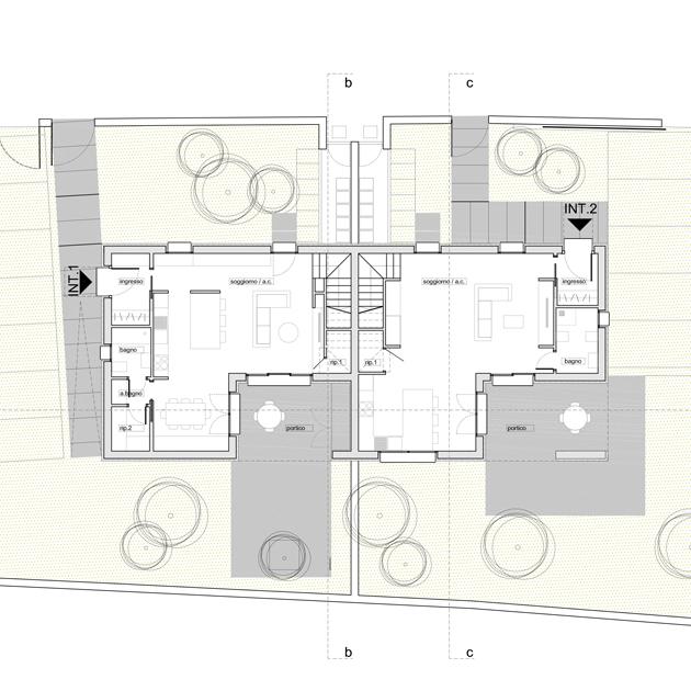 casa tivoli nooow architects roma architettura piano terra