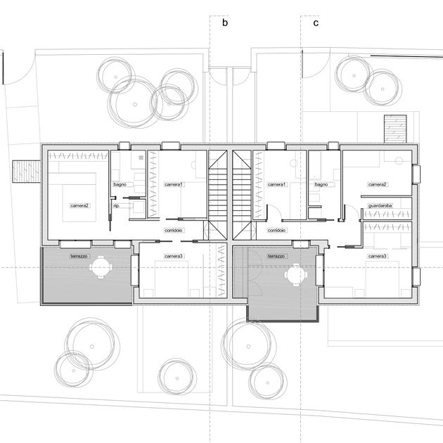 casa tivoli nooow architects roma architettura piano primo