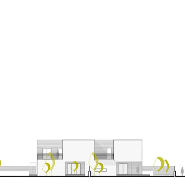 casa tivoli nooow architects roma architettura prospetto
