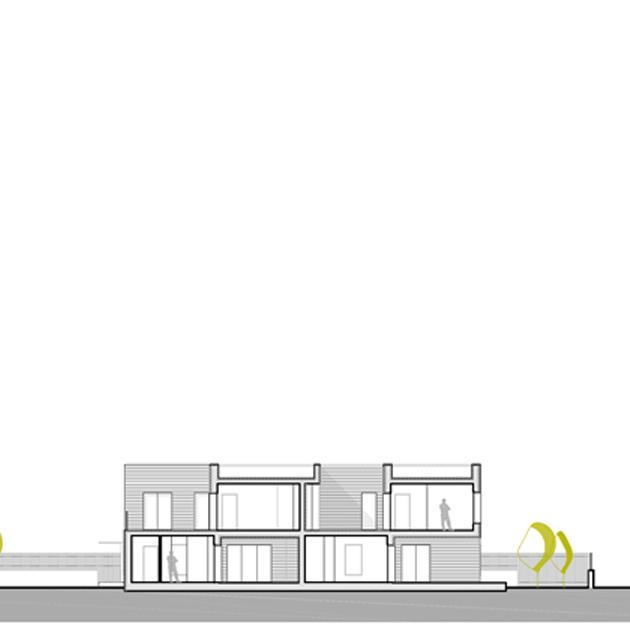 casa tivoli nooow architects roma architettura sezione