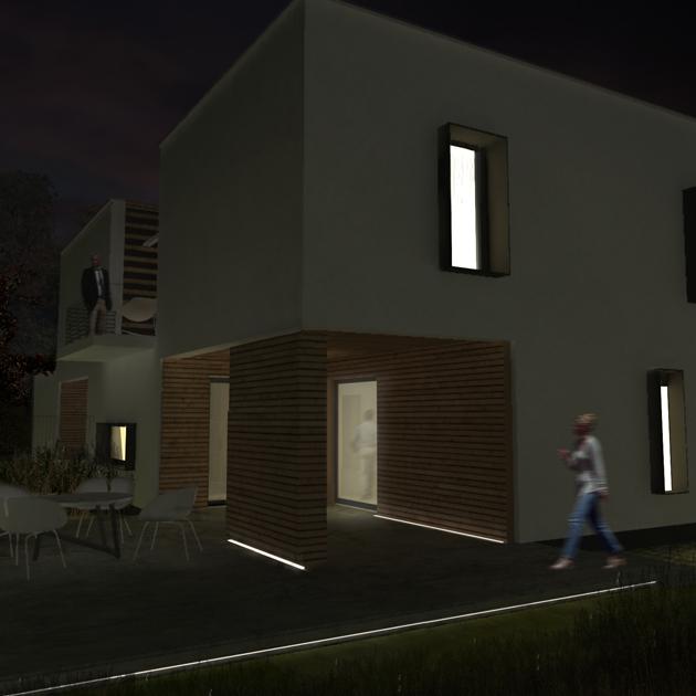 casa tivoli nooow architects roma architettura vista notte