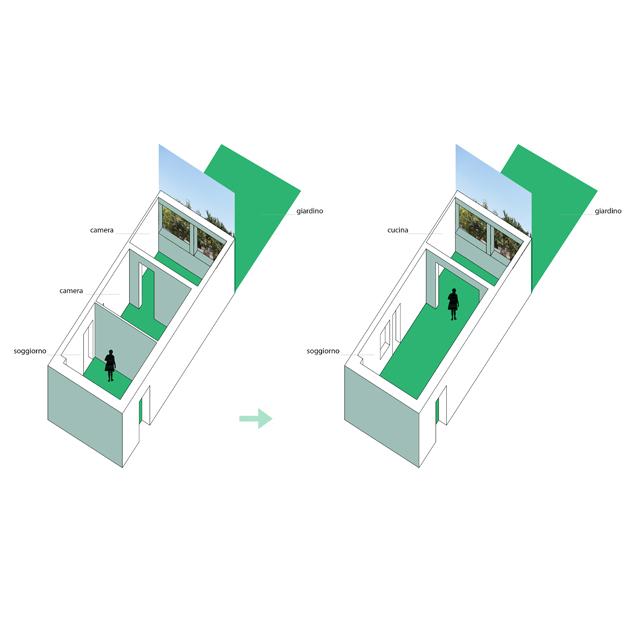 appartamento LAURENTINA nooow architects tivoli roma architetti interior design