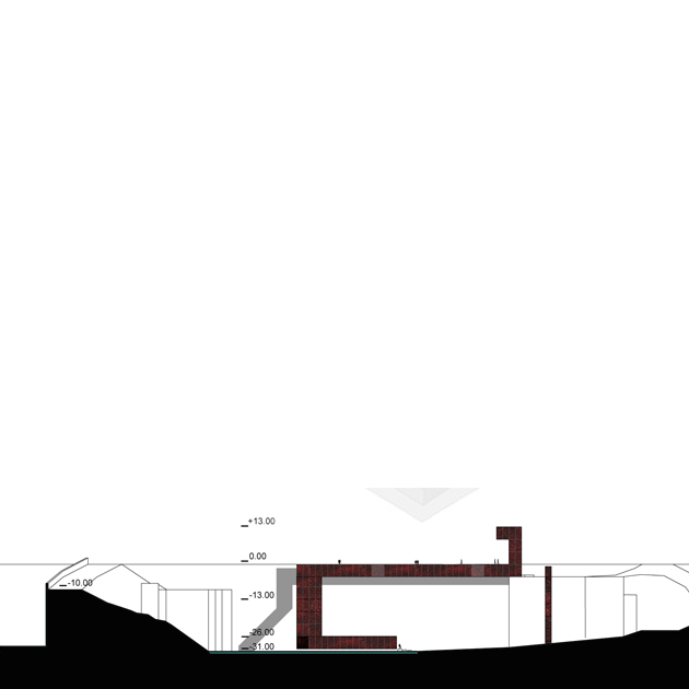 le carre nooow architects sezione