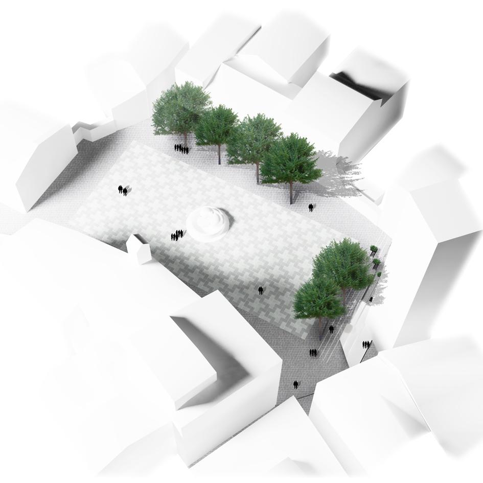 sistema delle piazze Viterbo nooow architects concorso architetti roma